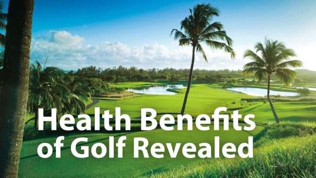 Image Of Health Benefits Of Golf In Golf Ground Background.