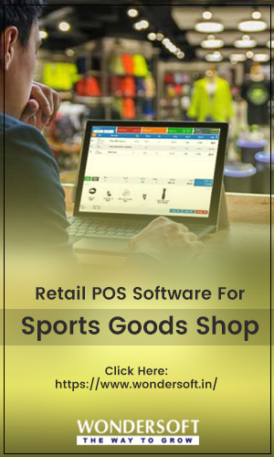 Best Retail POS Software For Sports Goods Shop on Display.